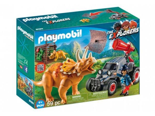 Динозавры: Вражеский квадроцикл с трицератопсом