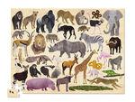 """Пазл в цилиндре """"36 Животных, Дикие животные"""", 100 деталей"""