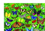 """Пазл в цилиндре """"36 Животных, Бабочки"""", 100 деталей"""
