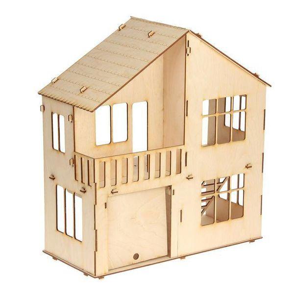 Домик для кукол 2-этажа с гаражом
