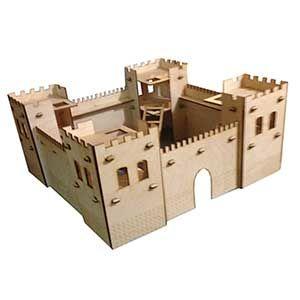 Деревянная крепость для мальчиков