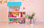 Бирюзовый кукольный домик, 75 см