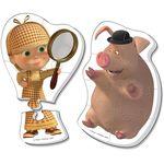 "Мягкие пазлы Maxi puzzle Маша и Медведь ""Маша Шерлок Холмс"""