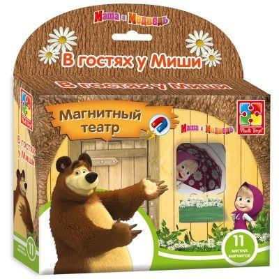 """Магнитный театр Маша и Медведь """"В гостях у Миши"""""""