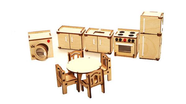 """Комплект кукольной мебели """"Кухня"""""""
