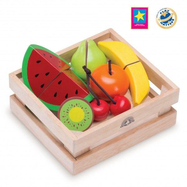 """Игровой набор """"Фрукты и ягоды"""" для нарезки в ящике"""