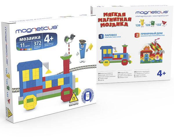 """Магнитная мозаика """"Поезд"""", 372 детали"""