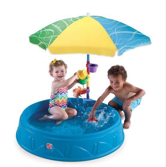 Бассейн для малышей с зонтом