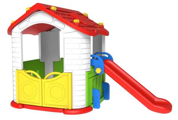 Игровой домик с горкой