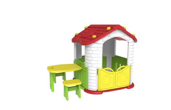 Игровой домик со столиком и 2 стульчиками