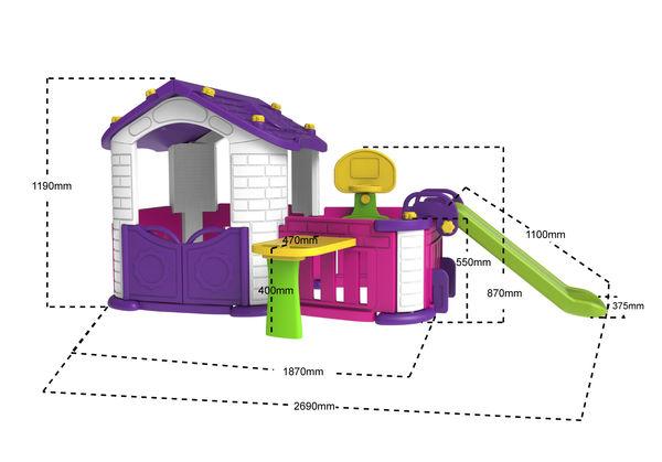 """Игровой комплекс """"Дом 2"""", фиолетовый"""