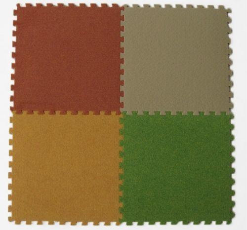 Мягкий пол с ковролином 30х30х0,7 см
