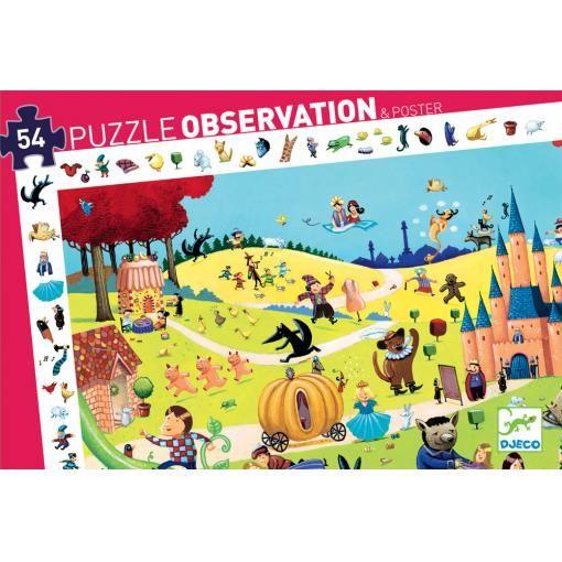 """Пазл-игра на наблюдательность """"Сказки"""", 54 детали"""