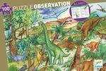 """Пазл на наблюдательность """"Динозавры"""", 100 деталей"""