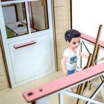 """Двухэтажный кукольный домик """"Коттедж"""""""