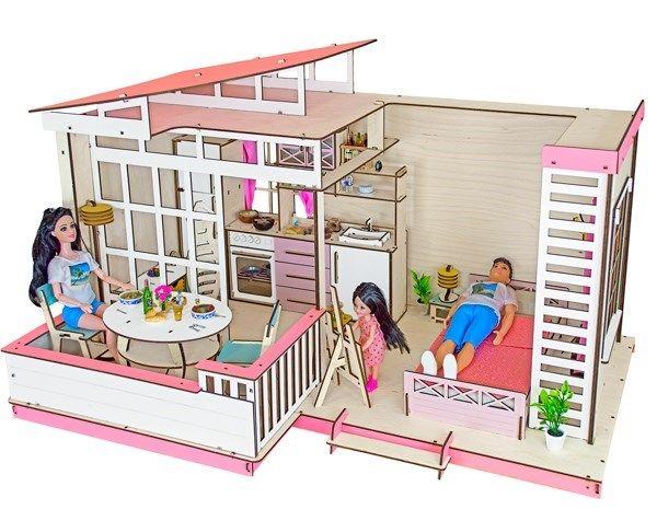 Одноэтажный кукольный домик «Летний»
