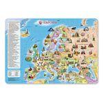 """Карта-пазл """"Европа. Достопримечательности"""" 260 деталей"""