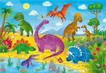 """Пазл на подложке """"Динозавры"""" 24 детали"""