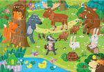 """Пазл на подложке """"Лесные животные"""" 24 детали"""