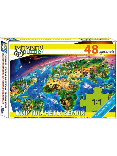 """Развивающий пазл """"Мир планеты Земля"""", 48 деталей"""