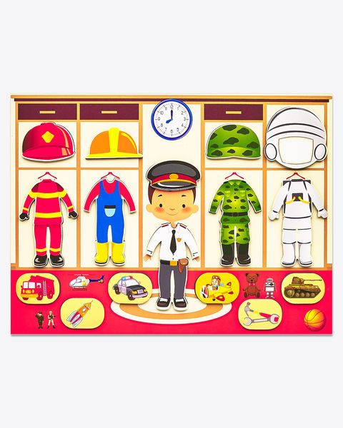 Магнитная игра-одевашка «Профессии» Мальчик