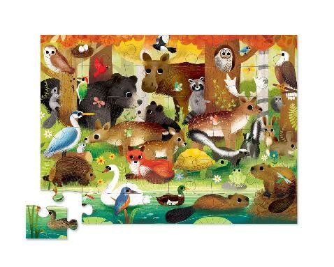 Пазл «Лесные друзья», 36 деталей