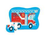 Пазл «Пожарная машина», 12 деталей