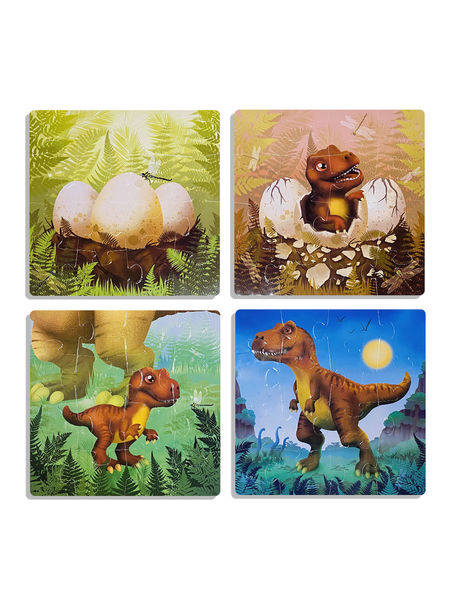 """Набор пазлов """"Динозаврик"""" 4 в 1"""