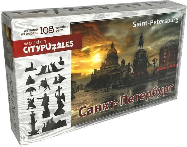 Деревянный пазл «Санкт-Петербург»,105 деталей