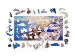 Деревянный пазл «о. Санторини», 126 деталей