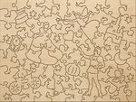 Деревянный пазл «Золушка», 76 деталей