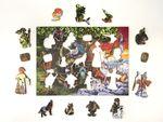 Деревянный пазл «Лукоморье», 65 деталей