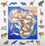 Деревянный пазл на подложке «Африка», 63 детали