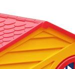 Домик игровой (красный/синий/желтый)