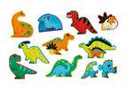 """Пазл для малышей """"Динозавры"""" (12 деталей)"""