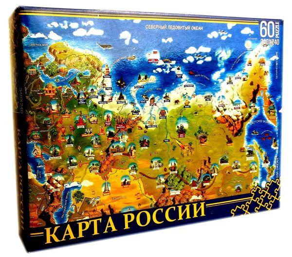 """Пазл """"Карта России"""", 60 деталей"""