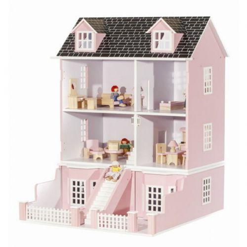 """Деревянный кукольный домик """"Версаль"""" с мебелью и куклами"""