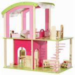 """Деревянный кукольный домик """"Флоренция"""" с мебелью и куклами"""