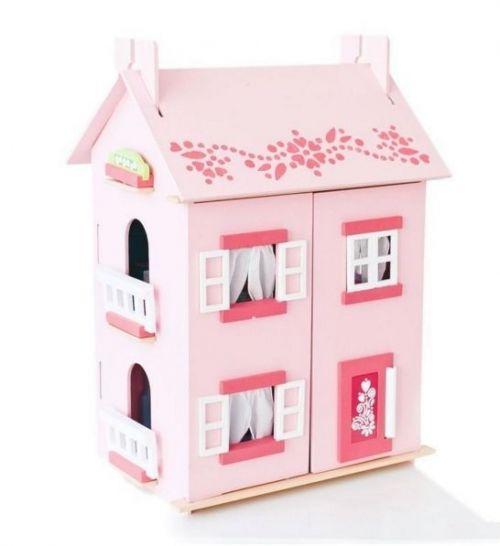 Большой домик для кукол «Милана» с мебелью