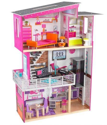 Деревянный дом для Барби «Роскошный дизайн» с мебелью
