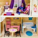 Деревянный домик для кукол «Шарм» (с мебелью и 2 лестницами)