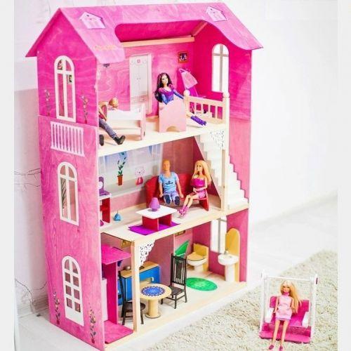 "Домик для Барби ""МУЗА"" (лифт, лестница, мебель)"