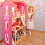"""Домик для Барби """"ВДОХНОВЕНИЕ"""" (2 лестницы, мебель)"""