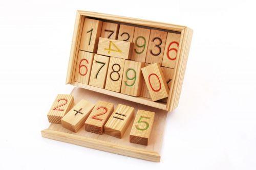 """Набор блоков с цифрами """"Арифметика"""", 24 шт в коробке"""