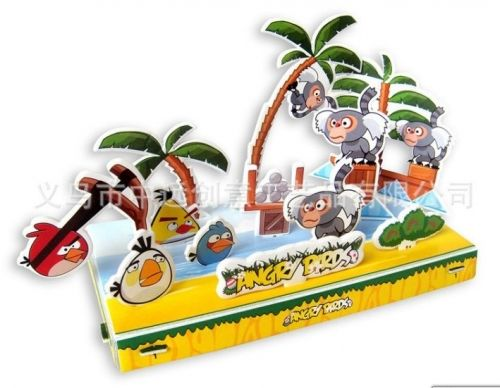 """Объёмный 3D пазл """"Angry Birds на пляже"""" розовый блистер"""