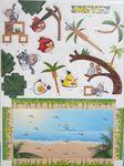 "Объёмный 3D пазл ""Angry Birds на пляже"" синий блистер"