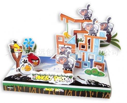 """Объёмный 3D пазл """"Angry Birds в горах"""" синий блистер"""
