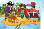 """Вертикальный пазл """"Пираты"""", 24 детали"""