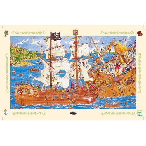 Пазл на наблюдательность «Пираты», 100 деталей