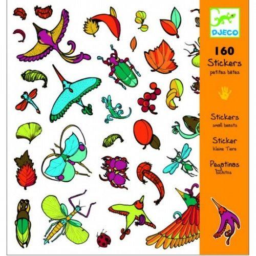 Набор наклеек «Маленькие насекомые» 160 шт.
